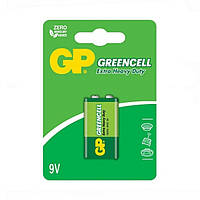 Батарейка GP 1604G-U1 Greencell 6F22 (крона, 9V, блистер, 10/200)