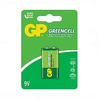Батарейка солевая GP 1604G-U1 Greencell 6F22 9V крона (блистер)