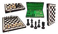 Большие подарочные шахматы темное дерево