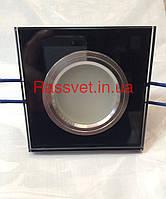 Светильник с декор стекла,квадрат,зеркально серный под MR16 Feron 8170-2