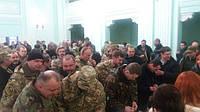 В санатории «Украина» в Ворзеле, 18 февраля 2016 года награждали орденами 25-й батальйон из г. Дебальцево