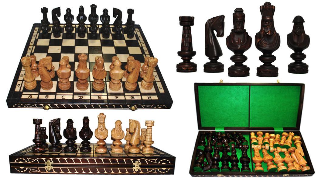 красивые резные шахматы ручной работы Small Cezar цена 7 407 грн