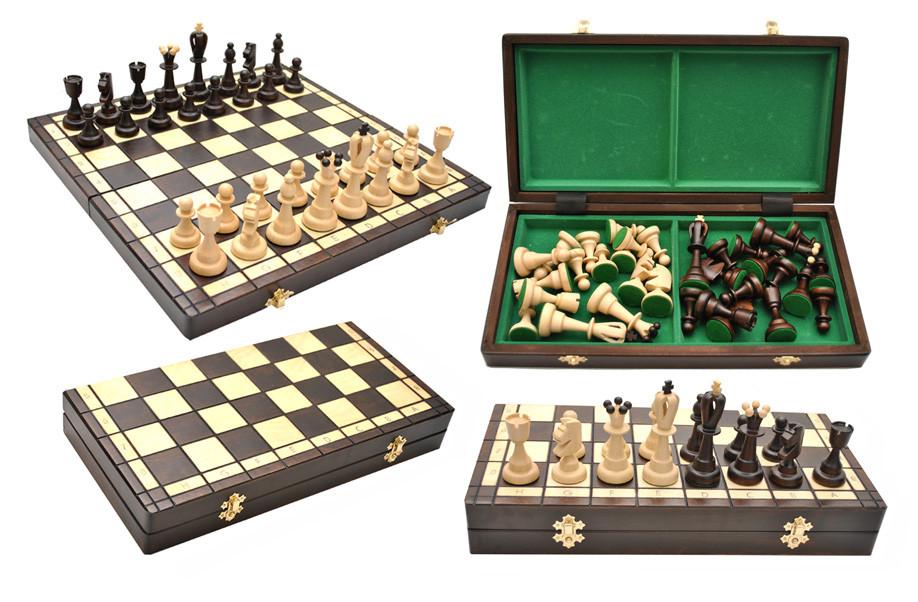 Удобные деревянные шахматы Ace - Сувениры и бижутерия в магазине подарков Поле Чудес в Киеве