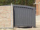 Ворота жатые металлические Hi Tech, фото 2
