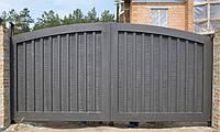 Ворота жатые металлические Hi Tech