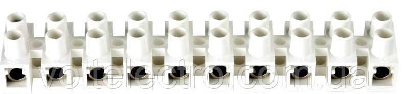 Клеммный зажим проходной 2,5-4 мм2 (полиамид)