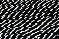 Канат декоративный акрил 8мм (50м) черный+белый, фото 1