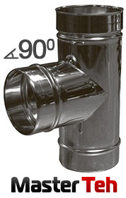 Тройник одностенный 90°/45° НЖ. сталь AISI 321 (0,8; 1мм)