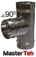 Тройник одностенный 90°/45° НЖ. сталь AISI 321 (0,8; 1мм), фото 1