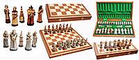 Сувенирные шахматы из камня и дерева