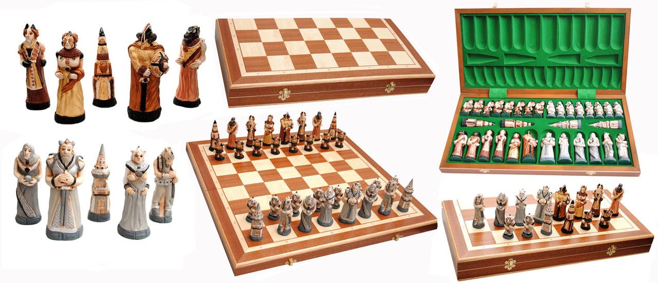Сувенирные шахматы из камня и дерева - Сувениры и бижутерия в магазине подарков Поле Чудес в Киеве