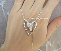 Стильный подвес Сердце серебро 925