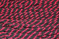 Канат декоративный акрил 8мм (50м) черный+красный , фото 1