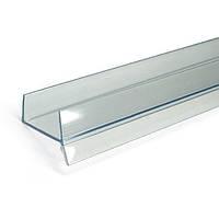 Цокольная планка // Italiana Ferramenta / L= 3000 мм / H= 8 мм / прозрачный / Уплотнитель для ЛДСП (16 мм)