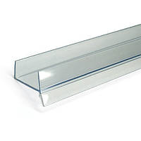 Цокольная планка // Italiana Ferramenta / L= 3000 мм / H= 8 мм / прозрачный / Уплотнитель для ЛДСП (18 мм)