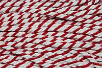 Канат декоративный акрил 8мм (50м) молочный+красный , фото 1