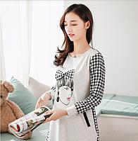 Клетчатое платье для беременных