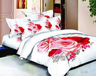 """Комплект постельного белья """"сатин 3D"""" ТМ """"Bella Donna"""" Букет.Евро"""