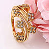 Кольцо позолоченное, Веночек из цветов, p. 17 медсплав 18К, фото 4
