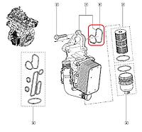 Прокладка корпуса масляного фильтра на Рено Мастер III 2.3dCi  2010> Renault (оригинал) 7701070061