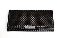 Женский кошелек с искусственной кожи черного цвета