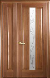 Комплект дверей двустворчатый Премьера сатин с Р2 + глухое от Новый стиль (венге new, зол.ольха, каштан,ясень)