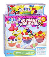 """Набор для лепки """"Вкусные кексы"""" (пластилин) Kid's Dough: 4 цвета"""