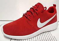 Кроссовки женские Nike Roshe Run красные и черные NI0063