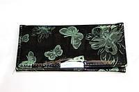 Дермантиновый женский кошелек с бабочками