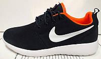 Кроссовки женские Nike Roshe Run черные с оранжевым NI0064