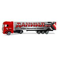 """Дитячий вантажівка з іменним написом: """"Данило"""""""