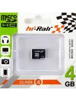 Micro SDHC карта памяти HI-RALI 4GB class 4 (без адаптера)