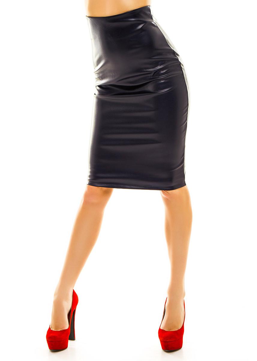 685ff5f751f Кожаная юбка-карандаш миди с завышенной талией - Web-покупки УСПЕХ - Модная  одежда