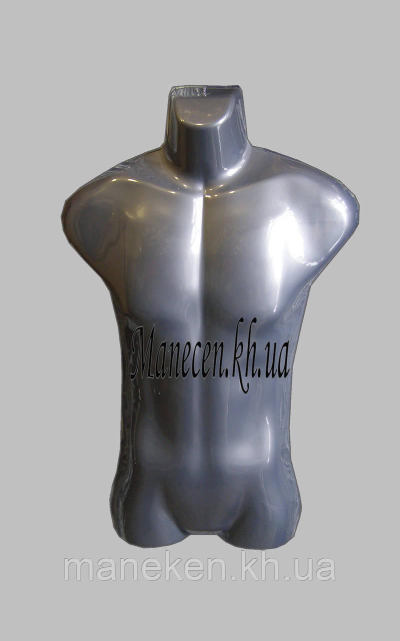 Манекен полуобъемный мужской подвесной  металлик