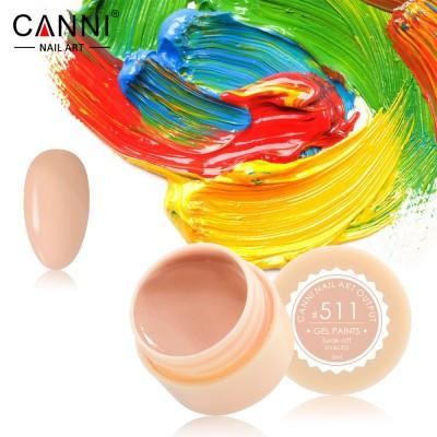 Гель-краска Canni 511 пастельно-оранжевая.