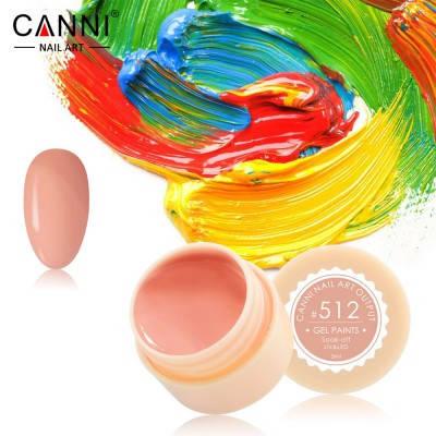 Гель-краска Canni 512 розово-карамельная., фото 2
