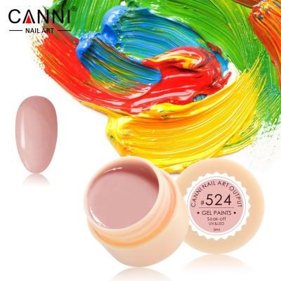 Гель-краска Canni 524 розово-бежевая.