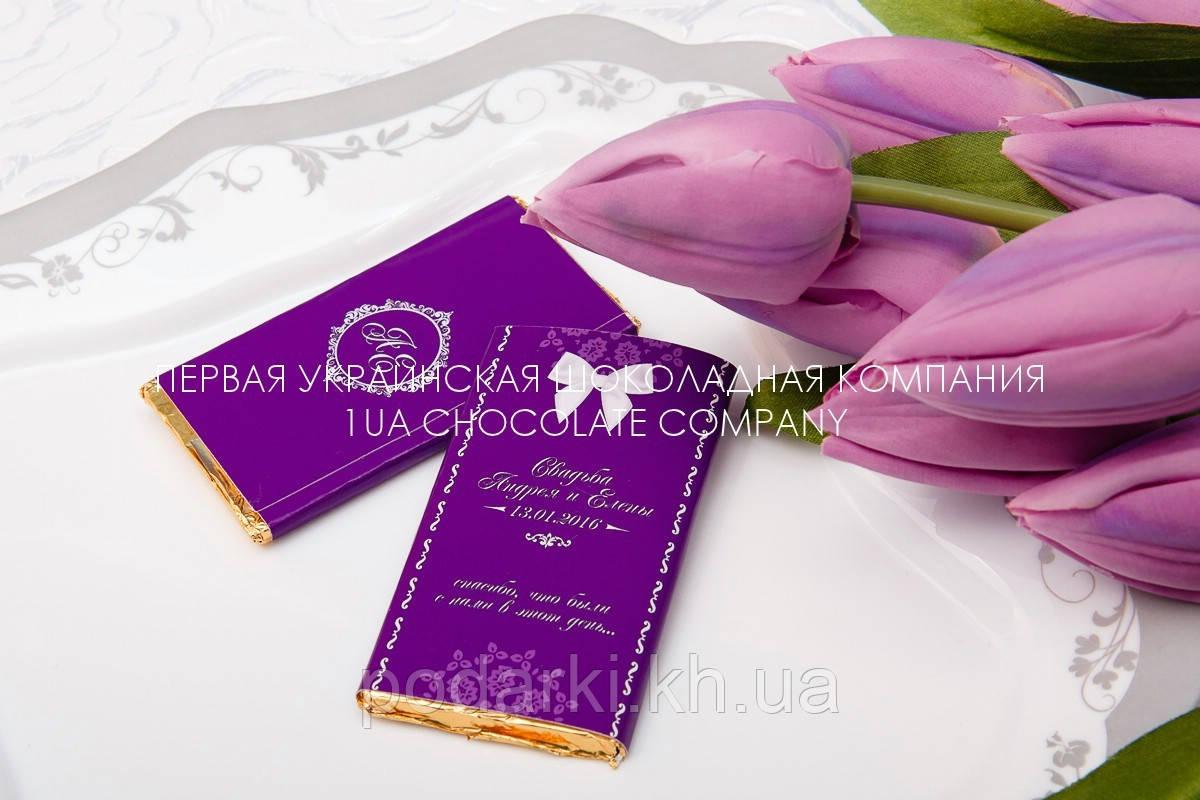 Оригинальные шоколадки в подарок на свадьбе