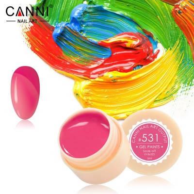 Гель-краска Canni 531 коралловая., фото 2