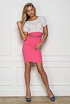Женское бело-розовое платье (Колибри sk), фото 3
