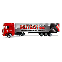 """Детский грузовик с именной надписью: """"Илья"""""""