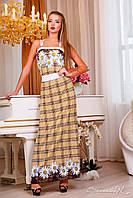 Женский длинный сарафан лето+большой размер