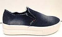 Слипоны женские стильные джинсовые KF0211