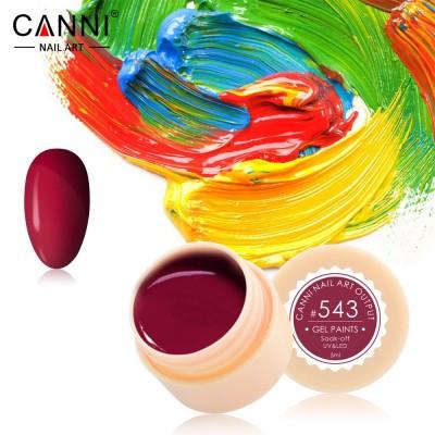 Гель-краска Canni 543 бордовая.