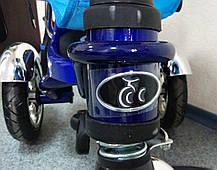 Детский трехколесный велосипед Lexus Trike KR01-А с дополнительной подножкой, надувные колеса, цвет синий, фото 2