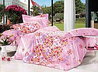 """Комплект постельного белья из сатина печатного ТМ """"Bella Donna"""" Fiesta Rose. Евро"""
