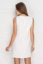Короткое белое платье без рукавов (2172 sk), фото 3