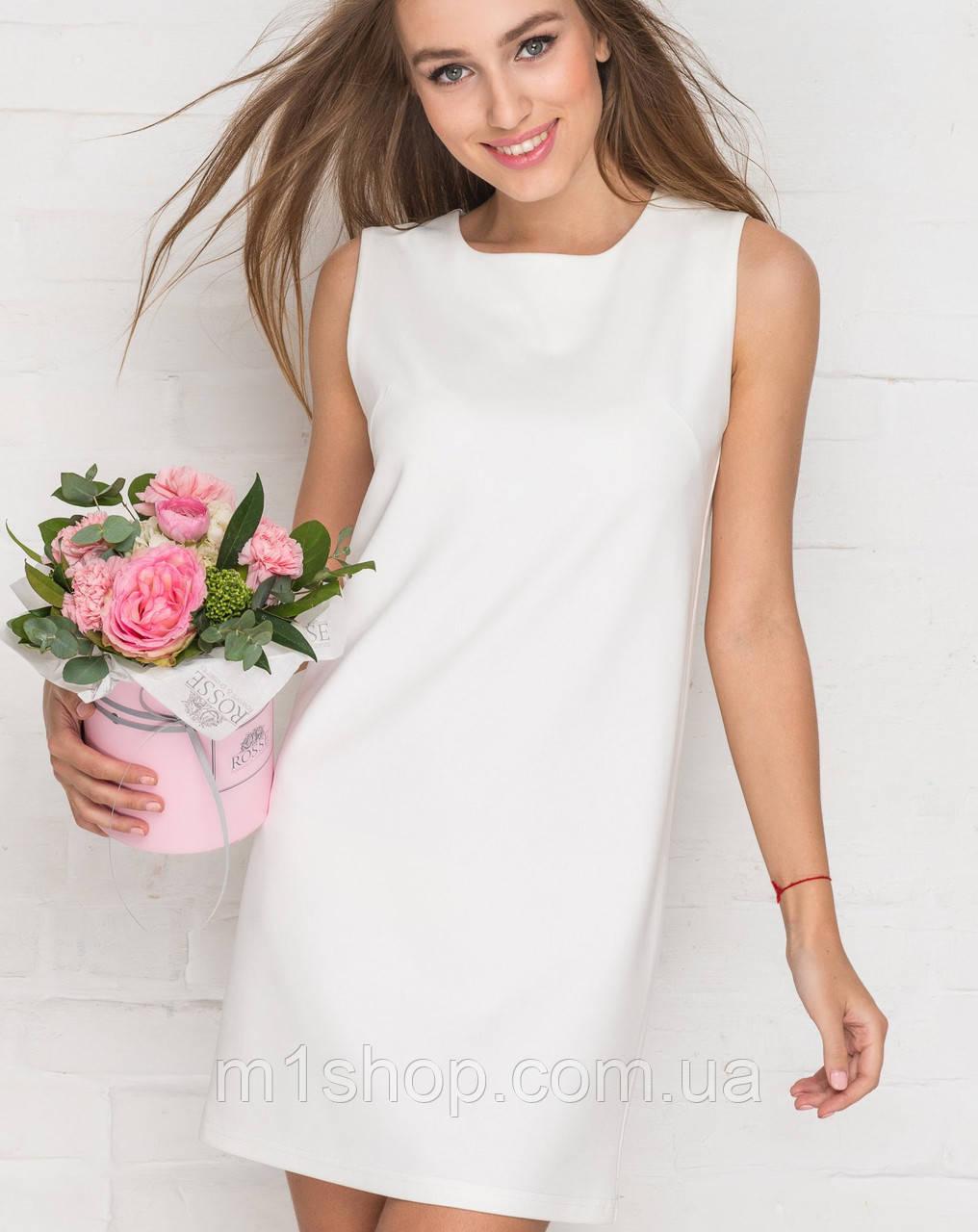 fdd3fe9686f Короткое белое платье без рукавов (2172 sk) - « m1shop » женская одежда в