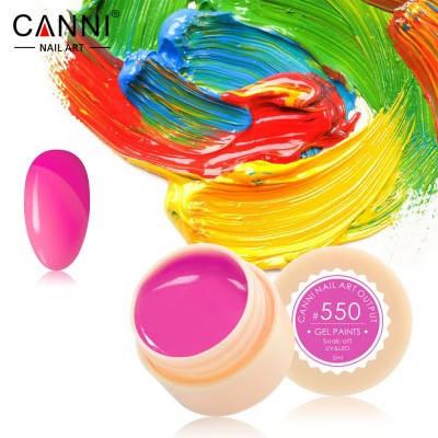 Гель-краска Canni 550 розовая фуксия., фото 2
