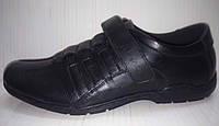 Туфли черные на липучке для подростка р.37,39
